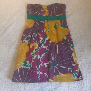 Bright, Floral, Multi-colored Anthropologie Dress